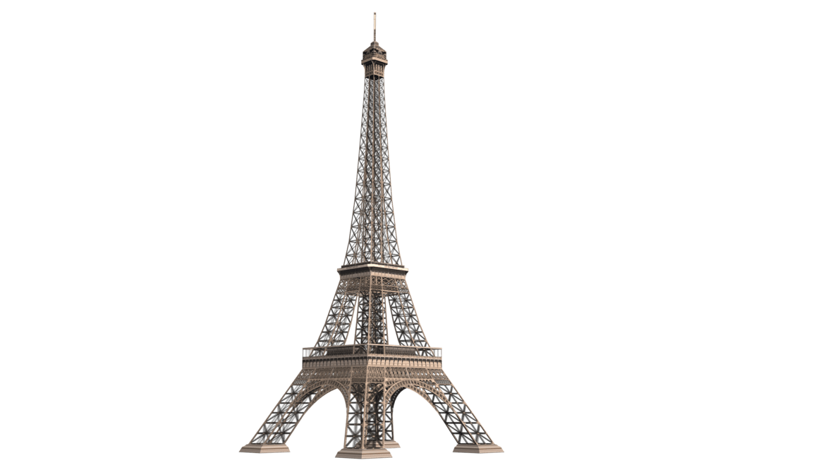 banner freeuse Tower metal transparent png. Eiffel clipart golden