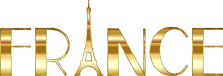 banner freeuse download Eiffel clipart golden. France typography gold medium