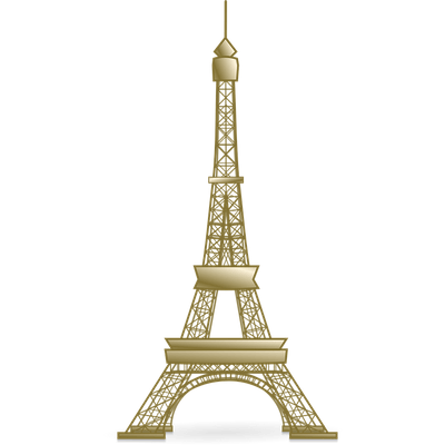 png black and white Eiffel clipart golden. Tower manualidad in coloring