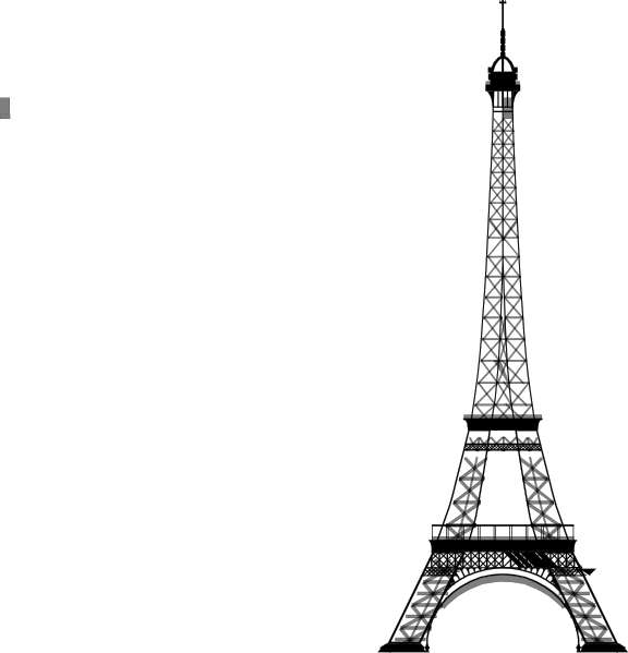 clipart library stock Tower black and white. Eiffel clipart lavender