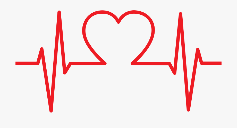 clipart royalty free library Ekg clipart. Heart shaped png transparent.
