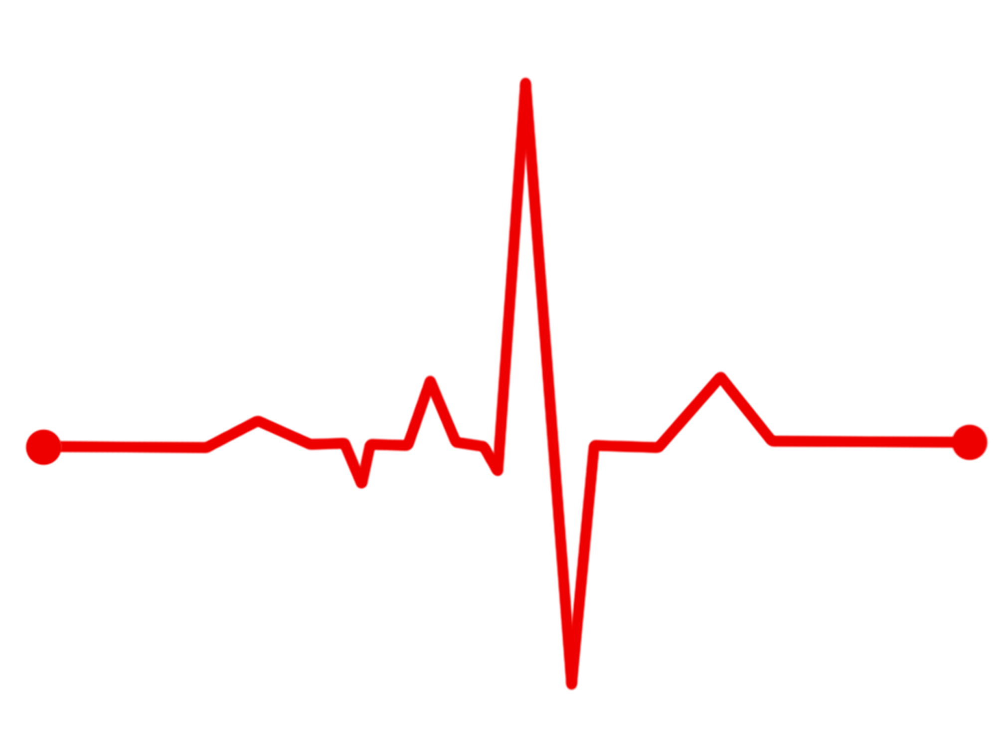 clip black and white library Red ecg waves free image