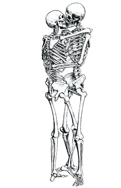 svg freeuse stock Transparent Skeletons Kissing by ShpresaMonster on DeviantArt