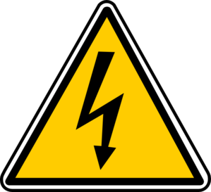 clipart freeuse library Warning clip art at. Electricity clipart.