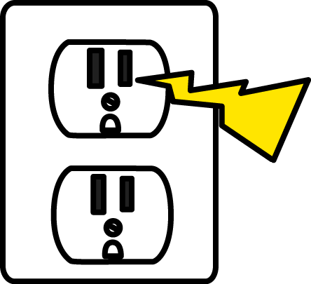 png black and white stock Image of electrical zap. Electric clipart