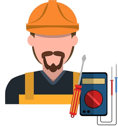 banner royalty free library Royalty Free RF Electrician Clipart Illustration