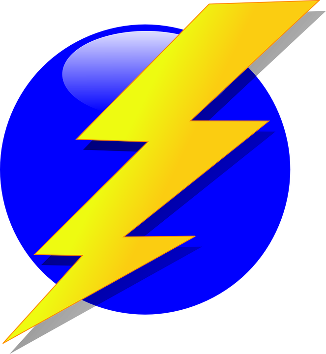 clip library Electrical clipart flash logo. Bolt vector high resolution