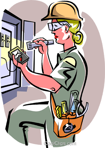 picture royalty free library Electrician clipart. Female frames illustrations hd.