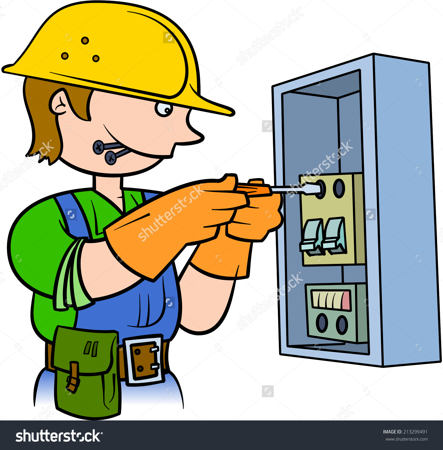 graphic download  clipartlook. Electrician clipart.