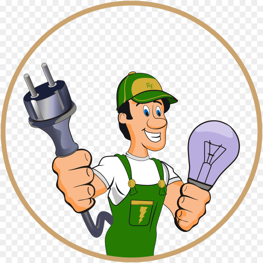 picture freeuse stock Hand cartoon electricity graphics. Electrician clipart.
