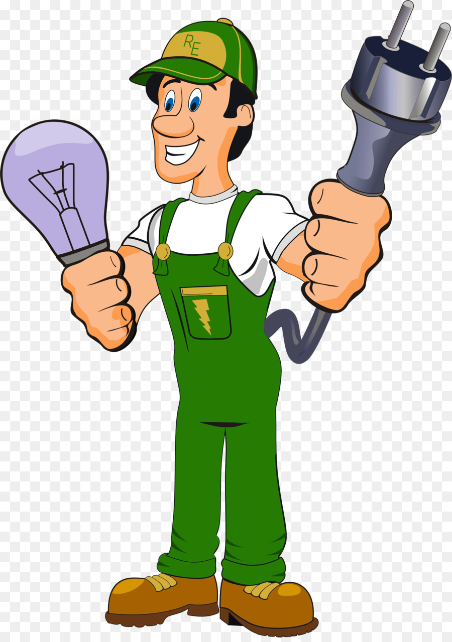 svg stock Electrician clipart. Cartoon electricity .