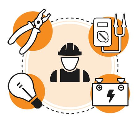 picture black and white Electrical contractor free on. Electrician clipart.