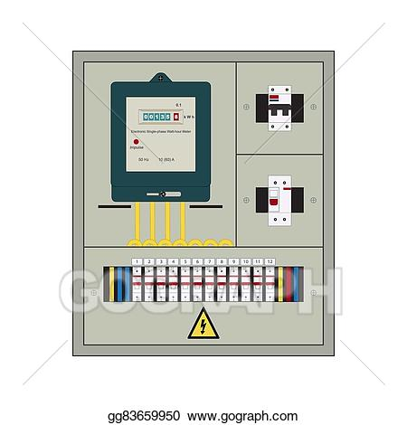png library download Electrician clipart breaker panel. Vector illustration electrical box