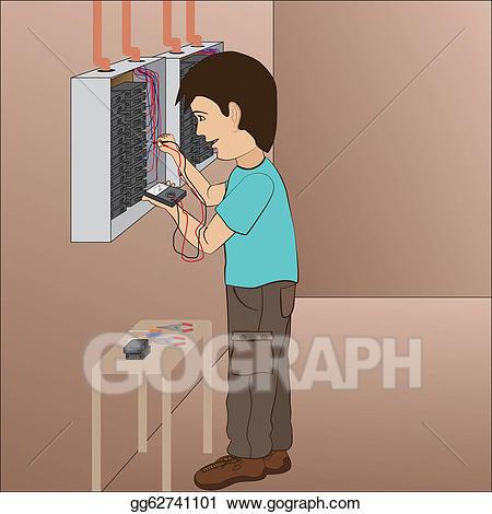 image freeuse stock Clip art vector stock. Electrician clipart breaker panel