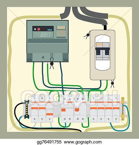 svg stock Electrician clipart breaker panel. Vector art electrical shield
