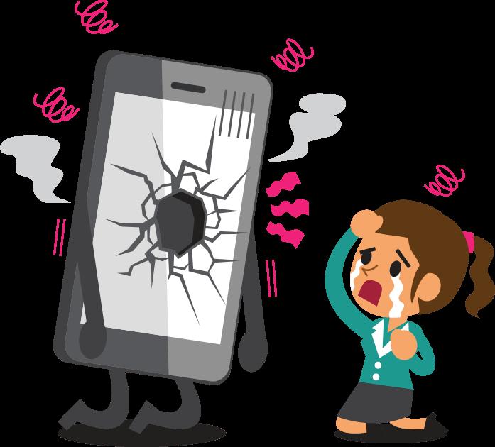 vector royalty free stock Broken clipart broken electronics. Sell phones trade in