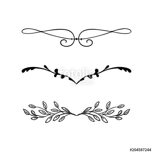 clipart royalty free download Element vector. Design beautiful fancy curls