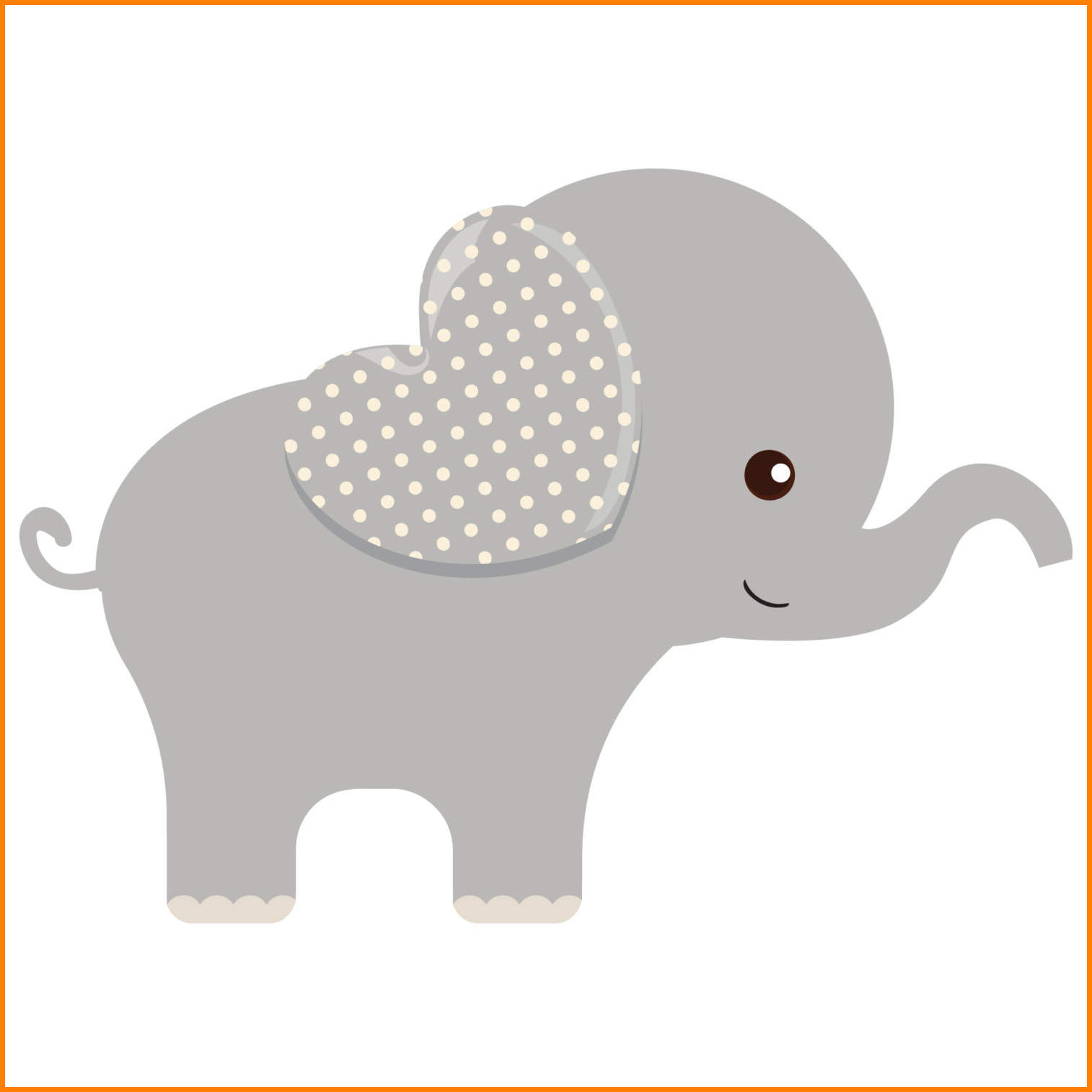 transparent stock Station . Elephant baby shower clipart.