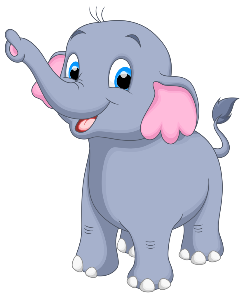 vector transparent library Free Cute Baby Elephant Clipart Images