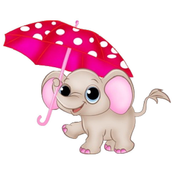 picture free download Pink theme graphic cartoon. Elephant baby shower clipart.