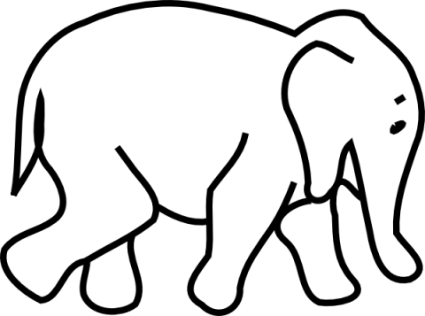 freeuse library Free Elephant Clipart Black And White Image