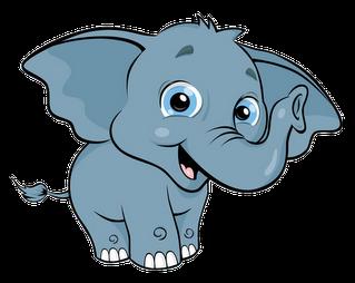 transparent stock Cute baby . Elephant clipart.