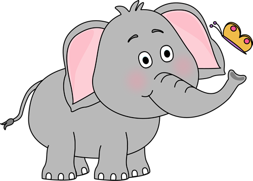 svg stock Butterfly . Elephant clipart.