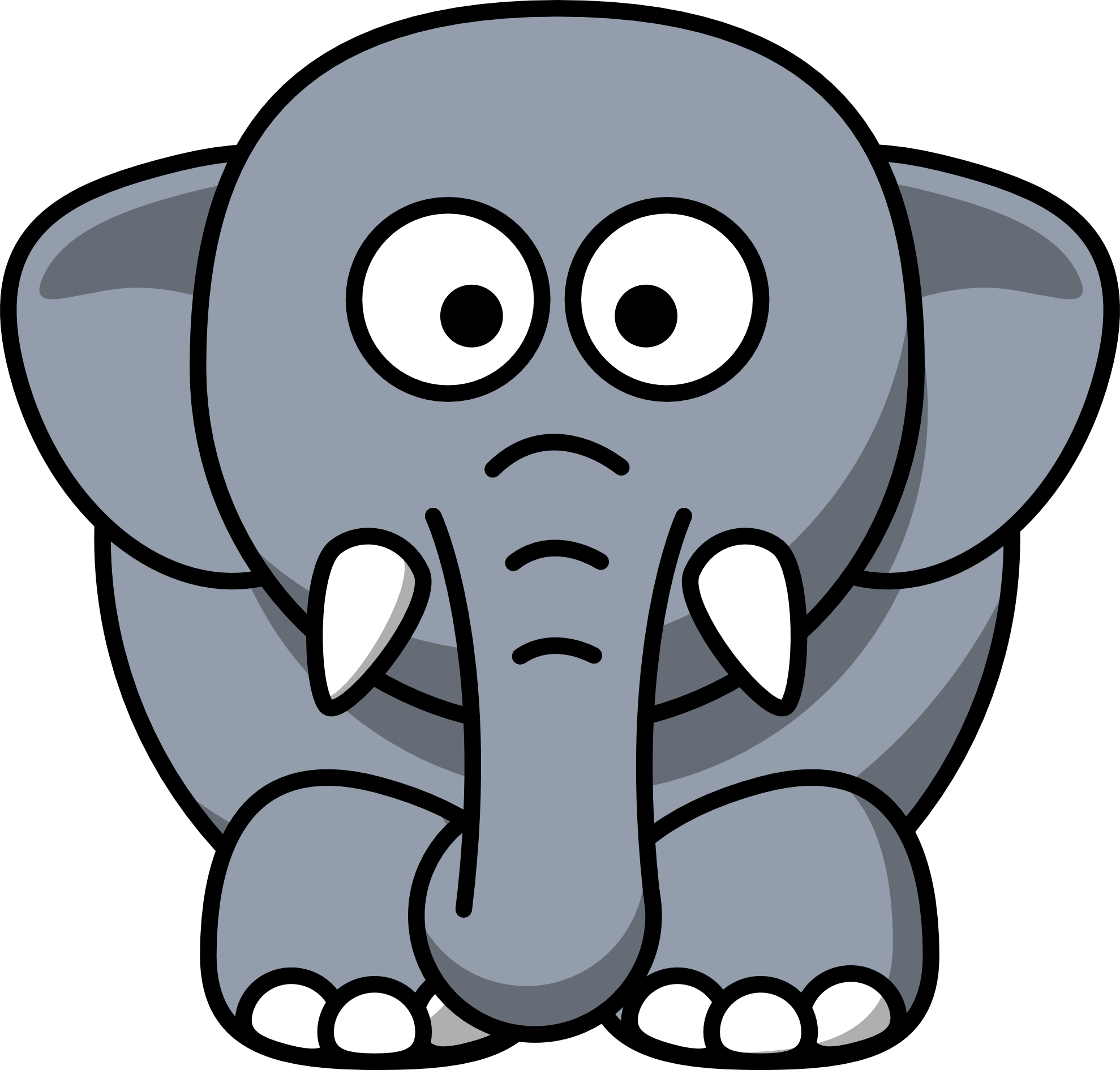 banner transparent library Elephants clipart. Elephant panda free images.