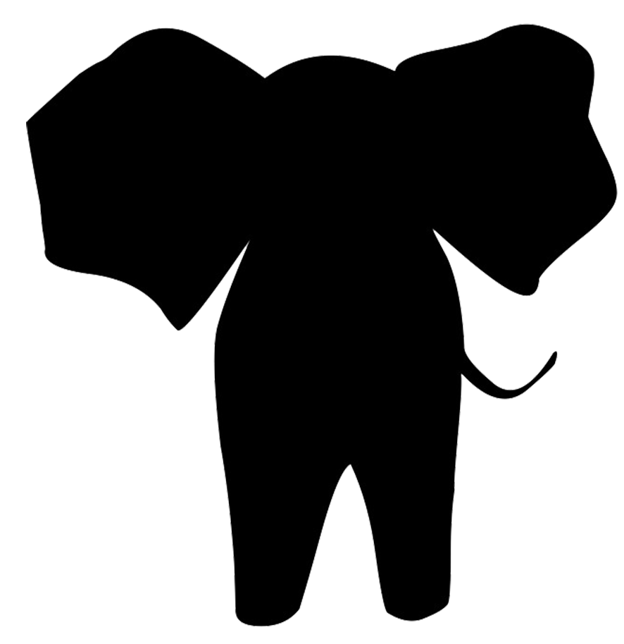 png royalty free library Drawing silhouette easy. Elephant clipart shadow pencil