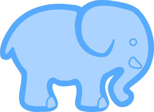 clip library library Baby Blue Elephant Clip Art at Clker