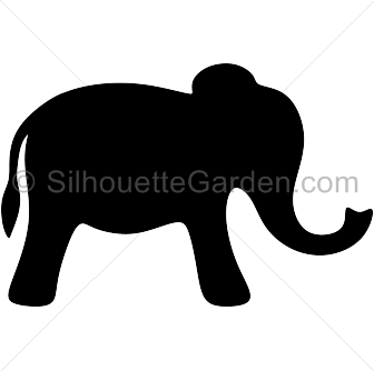 svg freeuse library Simple elephant clip art. Filigree svg silhouette.