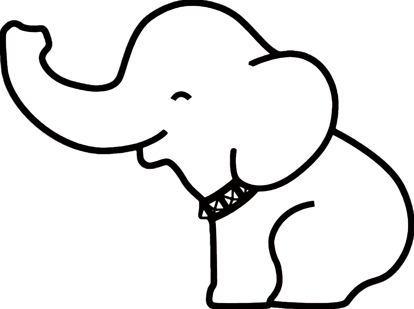 freeuse library Pin Elephant Outline on Pinterest