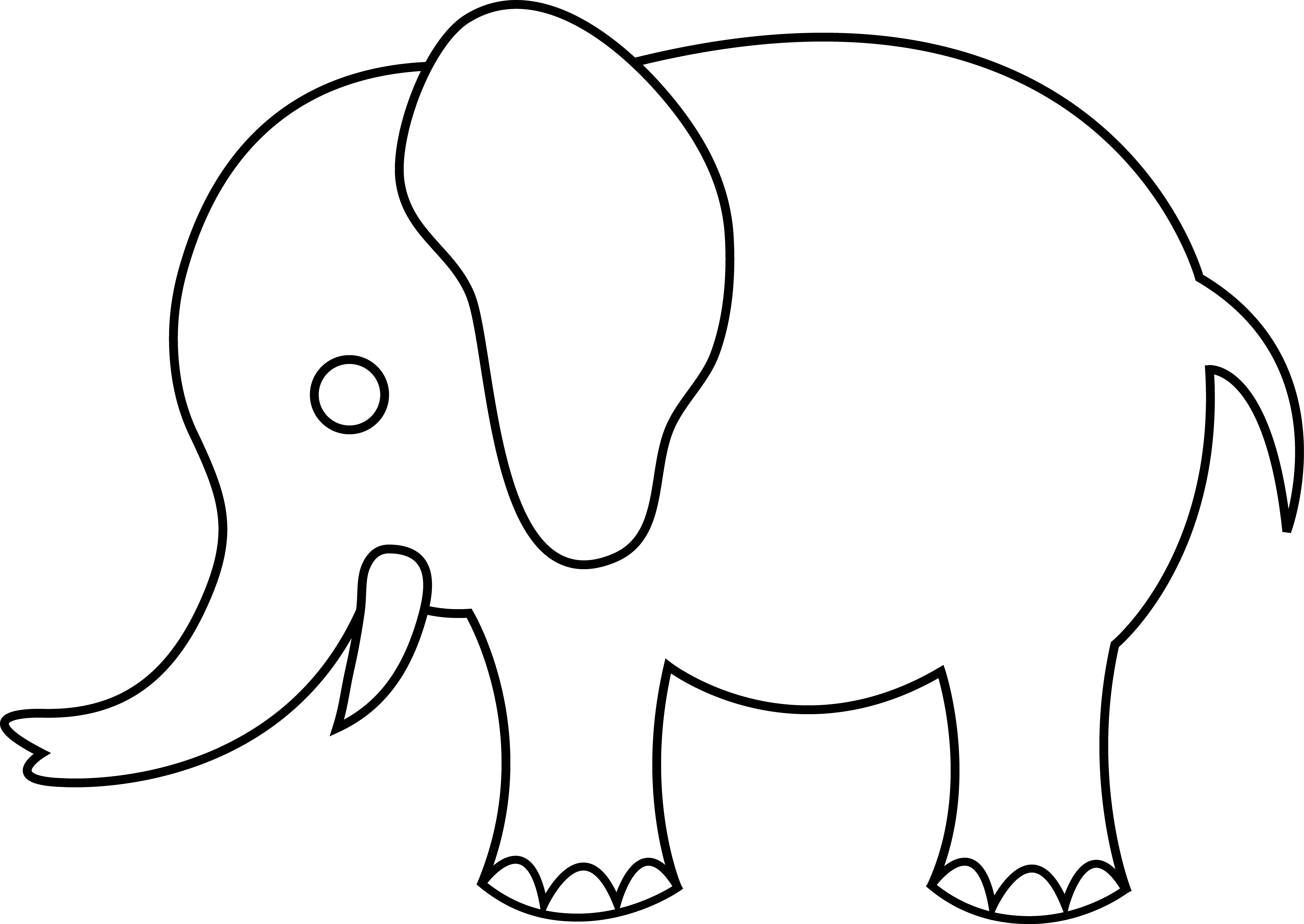 clipart royalty free download Baby elephant clipart outline.  collection of trunk
