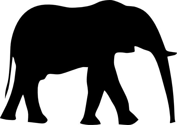 graphic Cute Elephant Silhouette Clip Art