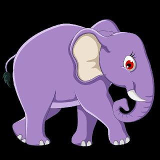 clip art royalty free stock Night clipart elephant. Cute baby cartoon clip.
