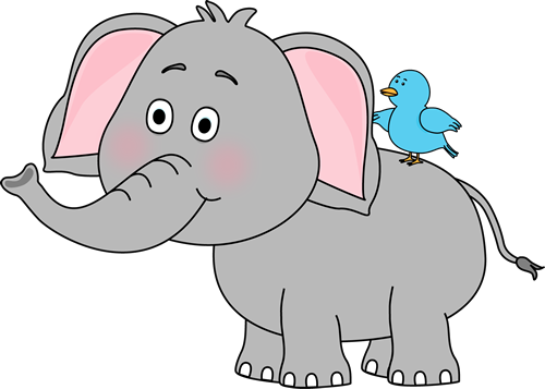 black and white library Elephant Clip Art