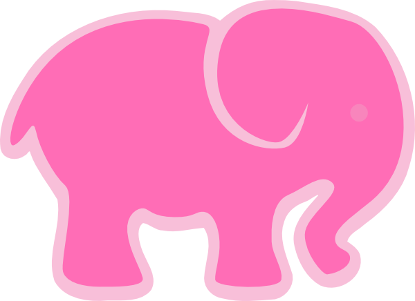 svg freeuse stock Pink Elephant Clip Art at Clker