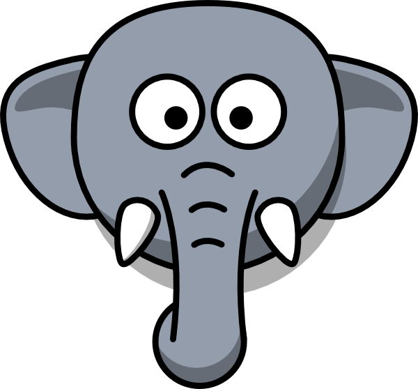 vector Elephant Head Clip Art at Clker