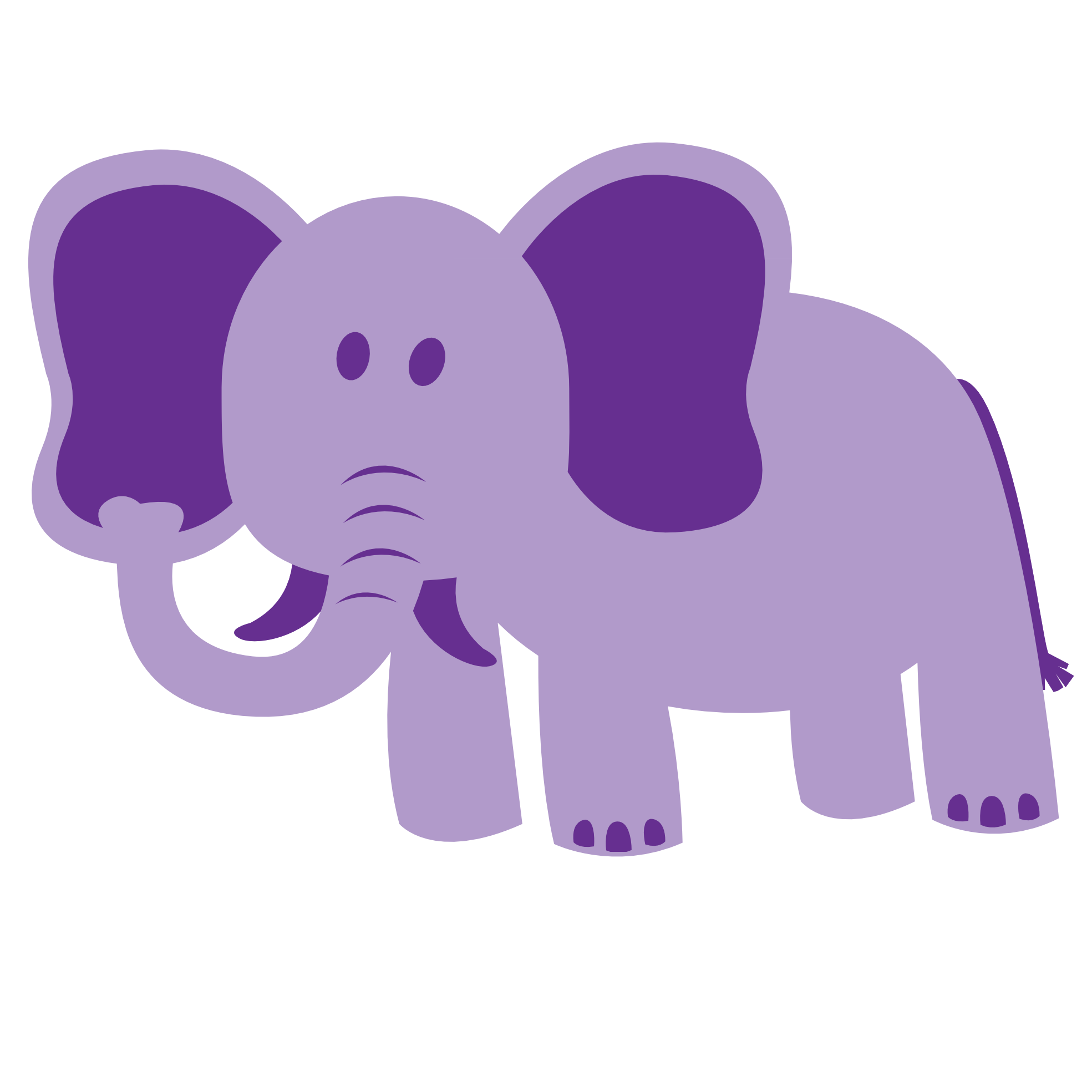 picture stock Purple animal clipart. Stuffed elephant pencil and