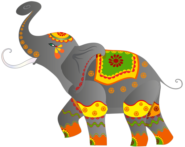 jpg freeuse download Decorative Indian Elephant PNG Clip Art Image