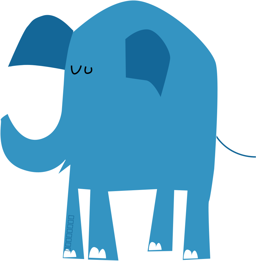 picture royalty free Make meme with Blue Elephant Family Clipart