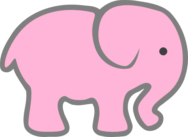 freeuse download Pink Elephant Clip Art at Clker