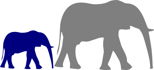 image transparent stock Mother And Baby Elephant Clip Art at Clker