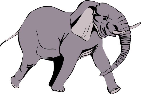 svg black and white stock Elephant clip art at. Elephants clipart wild animal.