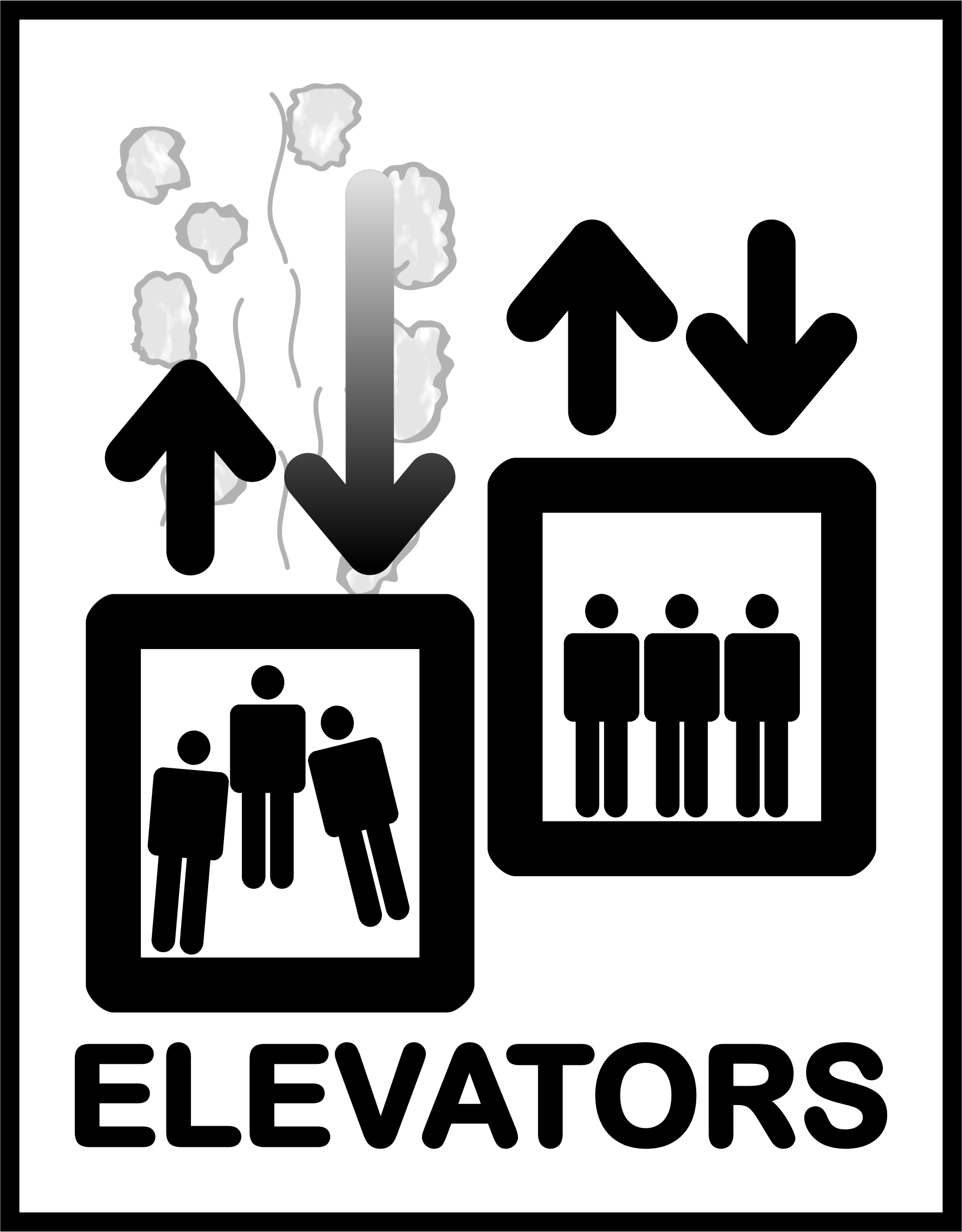 clip art freeuse library Sign big image png. Elevator clipart