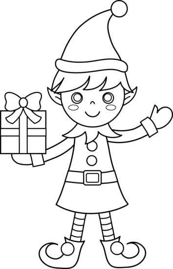 png library stock Elf clipart black and white. Click on the below