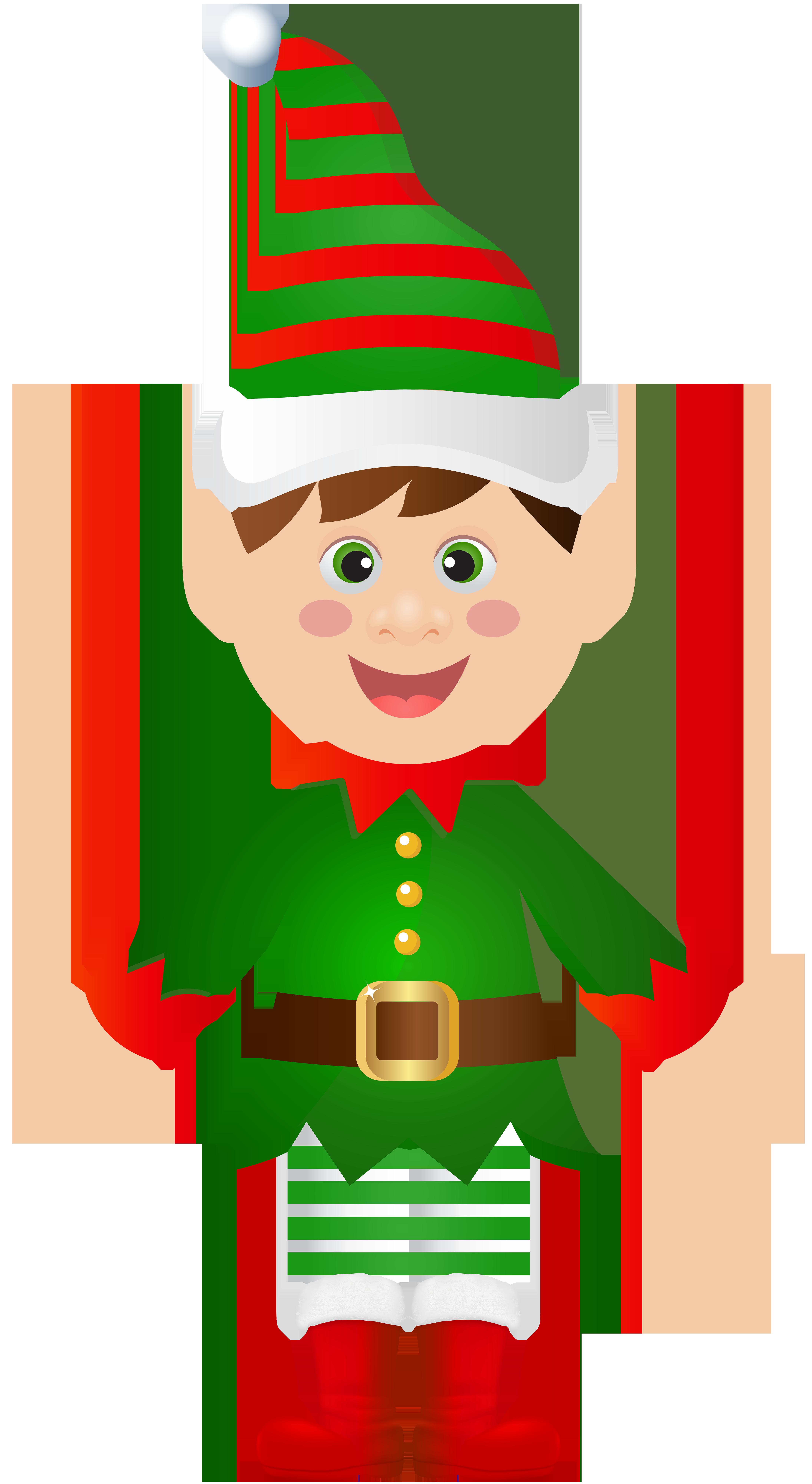 graphic black and white stock Claus christmas tree clip. Transparent santa elf