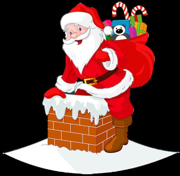 clipart royalty free stock Santawith cipart pinterest. Transparent santa chimney