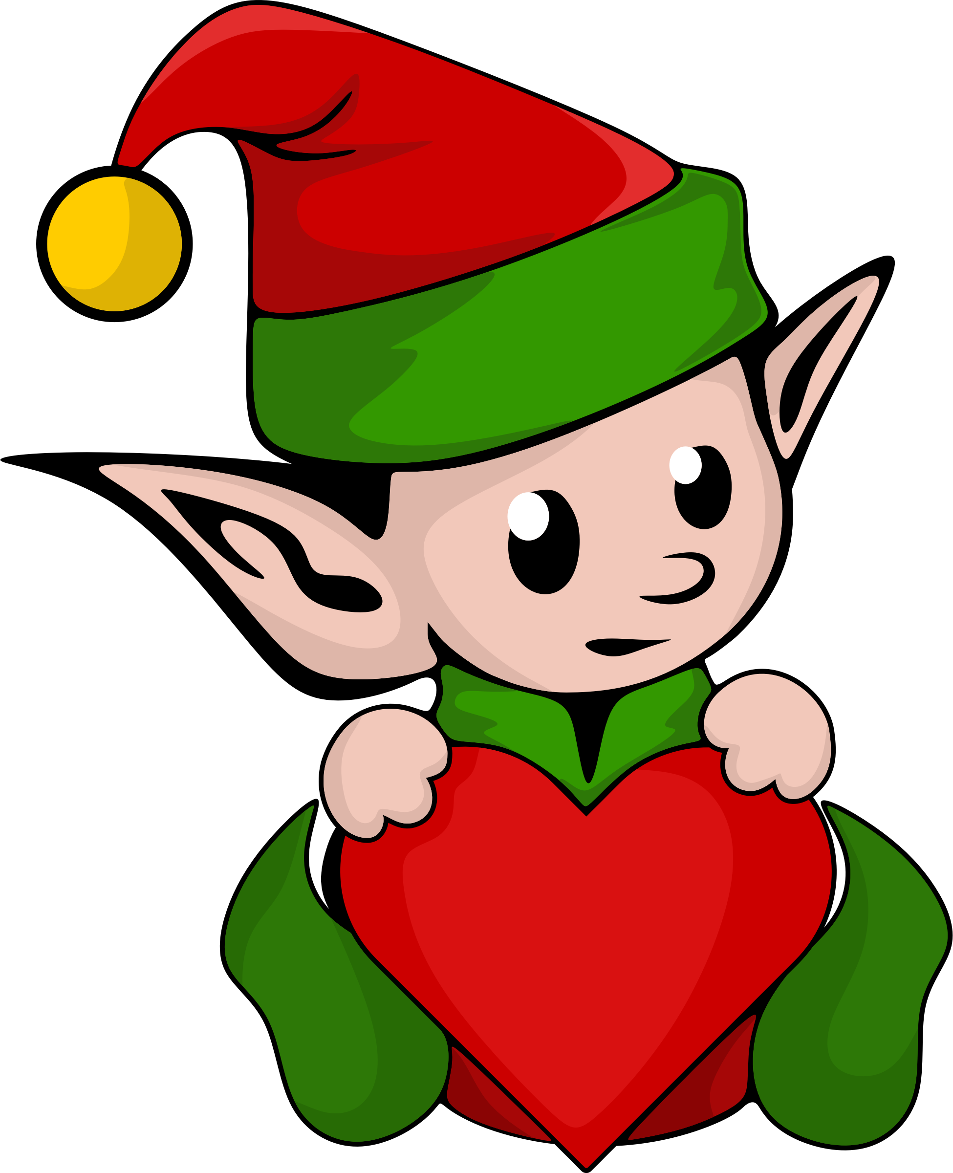 vector free stock Cute Elf Clipart at GetDrawings