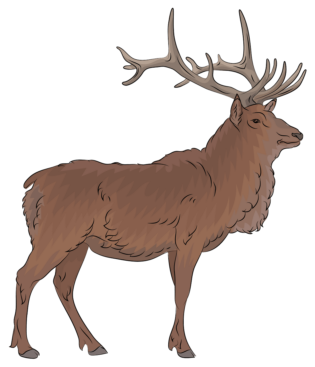 picture freeuse stock Elk clipart. Free download creazilla